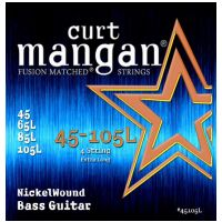 Thumbnail van Curt Mangan 45105L extra Long Scale 45-105 medium Nickel Wound