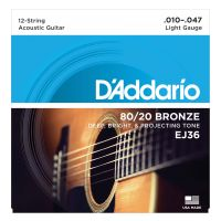 Thumbnail of D'Addario EJ36 80/20 12-String Bronze Acoustic Guitar Strings, Light, 10-47