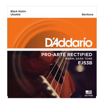 Preview of D'Addario EJ53B Baritone Ukulele Black Nylon
