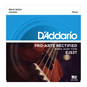 Preview of D'Addario EJ53T Tenor Ukulele Black Nylon