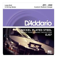 Thumbnail of D'Addario EJ57 5-String Banjo, Nickel, Custom Medium, 11-22