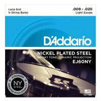 Thumbnail of D'Addario EJ60NY 5-String Banjo, Nickel, Light, 9-20