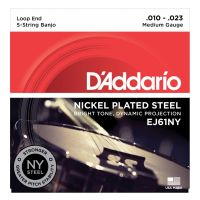 Thumbnail of D'Addario EJ61NY 5-String Banjo, Nickel, Medium, 10-23