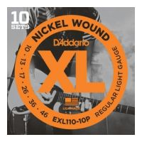 Thumbnail of D'Addario EXL110-10P 10PACK XL nickelplated steel