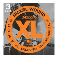 Thumbnail of D'Addario EXL110-3D 3PACK  XL nickelplated steel
