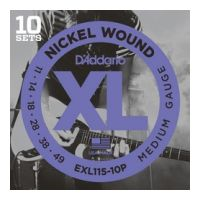 Thumbnail of D'Addario EXL115-10P 10PACK XL nickelplated steel