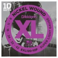 Thumbnail of D'Addario EXL120-10P 10PACK XL nickelplated steel