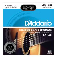Thumbnail of D'Addario EXP36 Coated 80/20 Bronze, 12-String, Light, 10-47