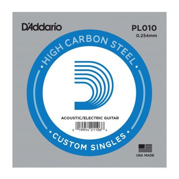 Preview of D'Addario PL010 Plain steel Electric or Acoustic