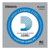 Thumbnail of D'Addario PL010 Plain steel Electric or Acoustic