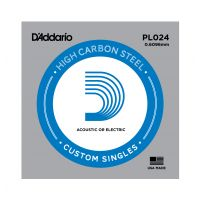 Thumbnail of D'Addario PL024 Plain steel Electric or Acoustic