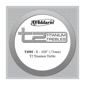 Preview of D'Addario T4501 T2 Titanium Treble Classical Guitar Single String, Normal Tension, First String