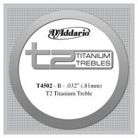 Thumbnail of D'Addario T4502 T2 Titanium Treble Classical Guitar Single String, Normal Tension, Second String