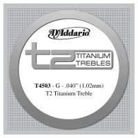 Thumbnail of D'Addario T4503 T2 Titanium Treble Classical Guitar Single String, Normal Tension, Third String
