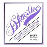 Thumbnail of D'Angelico 400FL Flamenco light Black nylon, Silver wound