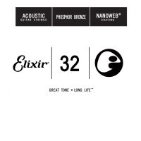 Thumbnail of Elixir 14132 nanoweb 032 wound Acoustic guitar phosphor bronze