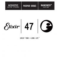Thumbnail of Elixir 14147 nanoweb 047 wound Acoustic guitar phosphor bronze
