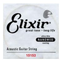 Thumbnail of Elixir 15153 Nanoweb 053 wound Acoustic guitar 80/20 bronze