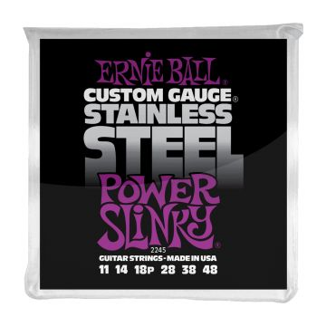 Preview van Ernie Ball 2245 Power Slinky  Stainless Steel Wound Electric