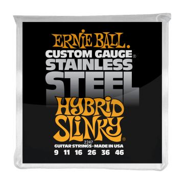 Preview of Ernie Ball 2247 Hybrid Slinky Stainless Steel Wound Electric