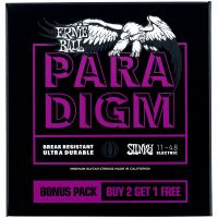 Thumbnail van Ernie Ball 3370 3 pack Paradigm Power Slinky  Electric Guitar Strings - 11-48 Gauge