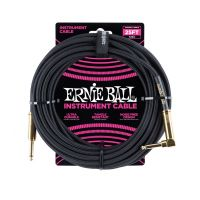 Thumbnail van Ernie Ball 6058 25' Braided Straight / Angle Instrument Cable - Black