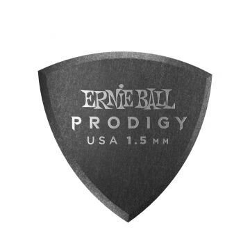 Preview van Ernie Ball 9331 1.5mm Black rounded triangle Prodigy Pick