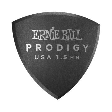 Preview van Ernie Ball 9332 1.5mm Black large rounded triangle Prodigy Pick