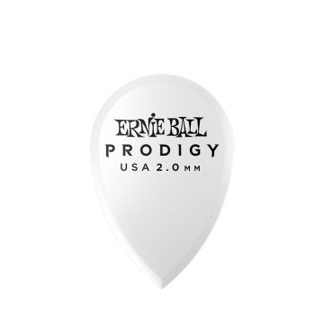 Preview van Ernie Ball 9336 2.0mm White Teardrop Prodigy Pick