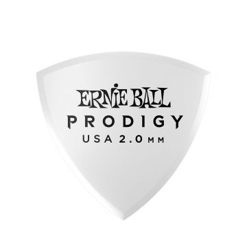Preview van Ernie Ball 9337 2.0mm White rounded triangle Prodigy Pick