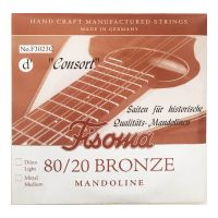 Thumbnail of Fisoma F3023C Consort 80/20 single pair of D strings for mandoline.
