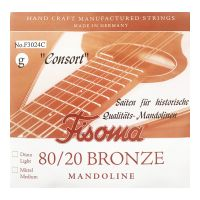 Thumbnail of Fisoma F3024C Consort 80/20 single pair of G strings for mandoline.