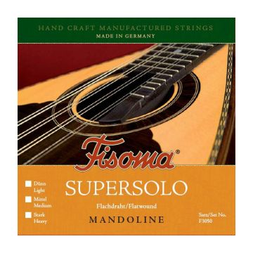 Preview of Fisoma F3050H Mandoline supersolo Heavy Flatwound Stainless