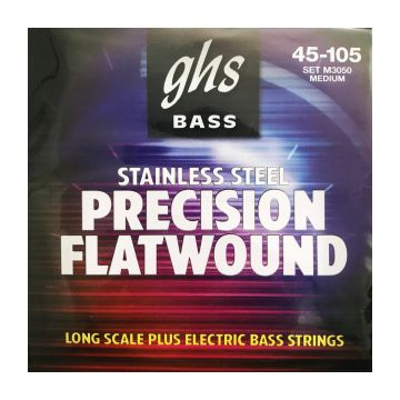 Preview of GHS 3050 M Medium  Precision Flatwound Flat Wrap Stainless Steel Regular 045/105
