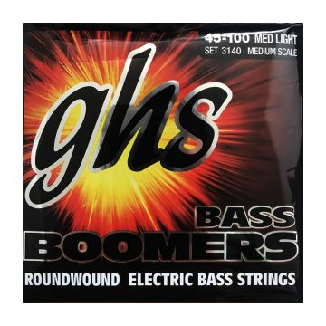 Preview of GHS 3140 Medium scale Bass Boomers Roundwound Nickel-Plated Steel Medium /light gauge