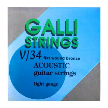 Preview of Galli V34 Flatwound bronze acoustic guitarstrings