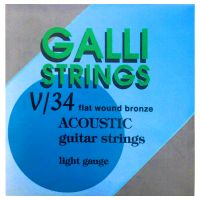 Thumbnail of Galli V34 Flatwound bronze acoustic guitarstrings