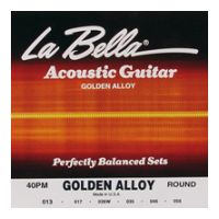 Thumbnail of La Bella 40-PM Medium Golden Alloy Wound