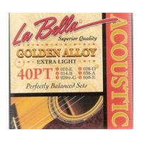 Thumbnail of La Bella 40-PT Extra Light Golden Alloy Wound