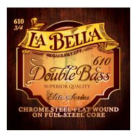 Thumbnail of La Bella 610 Chrome Steel Flat Wound on Full Steel Core