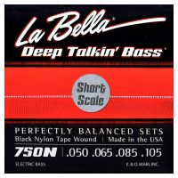 Thumbnail of La Bella 750N-S Black Nylon Tape Wound Short Scale