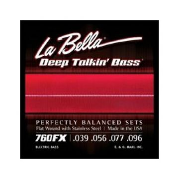 Preview van La Bella 760FX XL Extra lite 39-96 Flatwound Stainless Steel extra long scale