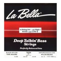 Thumbnail of La Bella 760N-CB High-C, Low B Black Nylon Tape Wound