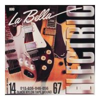 Thumbnail of La Bella 800-M Medium Black Nylon Tape Wound