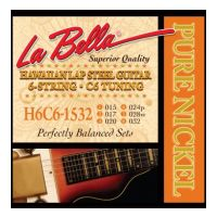 Thumbnail of La Bella H6C6-1532 Hawaiian Lap Steel Guitar, Pure Nickel – 6-String C6 Tuning 15-32