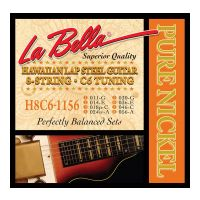 Thumbnail of La Bella H8C6-1156 Hawaiian Lap Steel Guitar, Pure Nickel – 8-String C6 Tuning 11-56