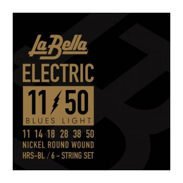 Preview of La Bella HRS-BL Electric Guitar – Blues Light 11-50