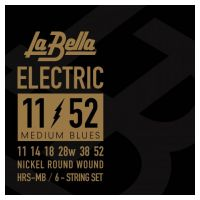 Thumbnail of La Bella HRS-MB Electric Guitar – Medium Blues 11-52