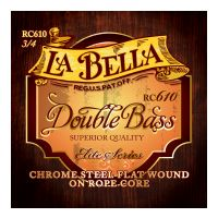 Thumbnail of La Bella RC610 Chrome Steel Flat Wound on Rope Core