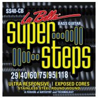 Thumbnail of La Bella SS40-CB XL Super Steps, 6-String – Extra Light 29-118 extra long scale